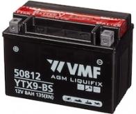 BATERIE MOTO 12V   8AH VMF Powersport MF YTX9-BS - 131 Lei
